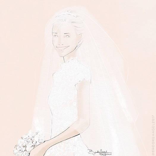 Jennifer illustrated Pippas gorgeous gown. Copyright Naseeba Khader 1