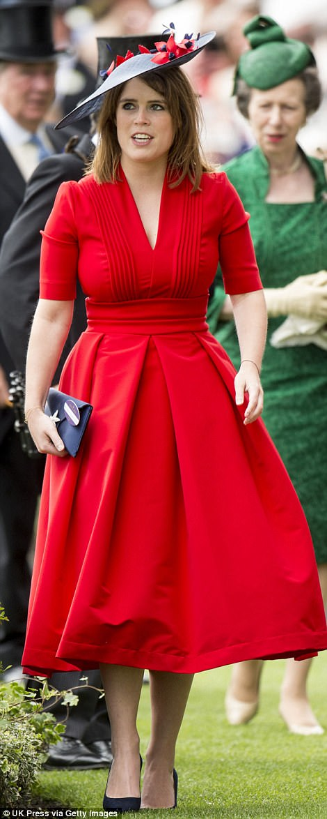 But there was nothing subtle about Princess Eugenie's fire engine red frock
