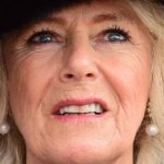 Camilla Duchess of Cornwall watches a fly past during a visit to RAF LeemingAnthony Chappel Ross Photo C WPA Pool Getty Images