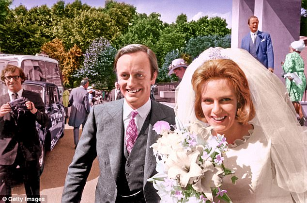 Camilla never seemed to blame her husband's lovers, or even have any stormy showdowns with Andrew, pictured on their wedding day in 1973
