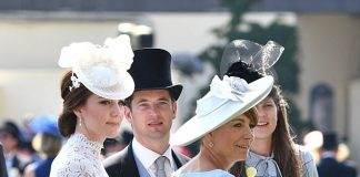 Carole Middleton 62 looked incredibly youthful in a pastel blue dress from Goat teamed with a matching hat