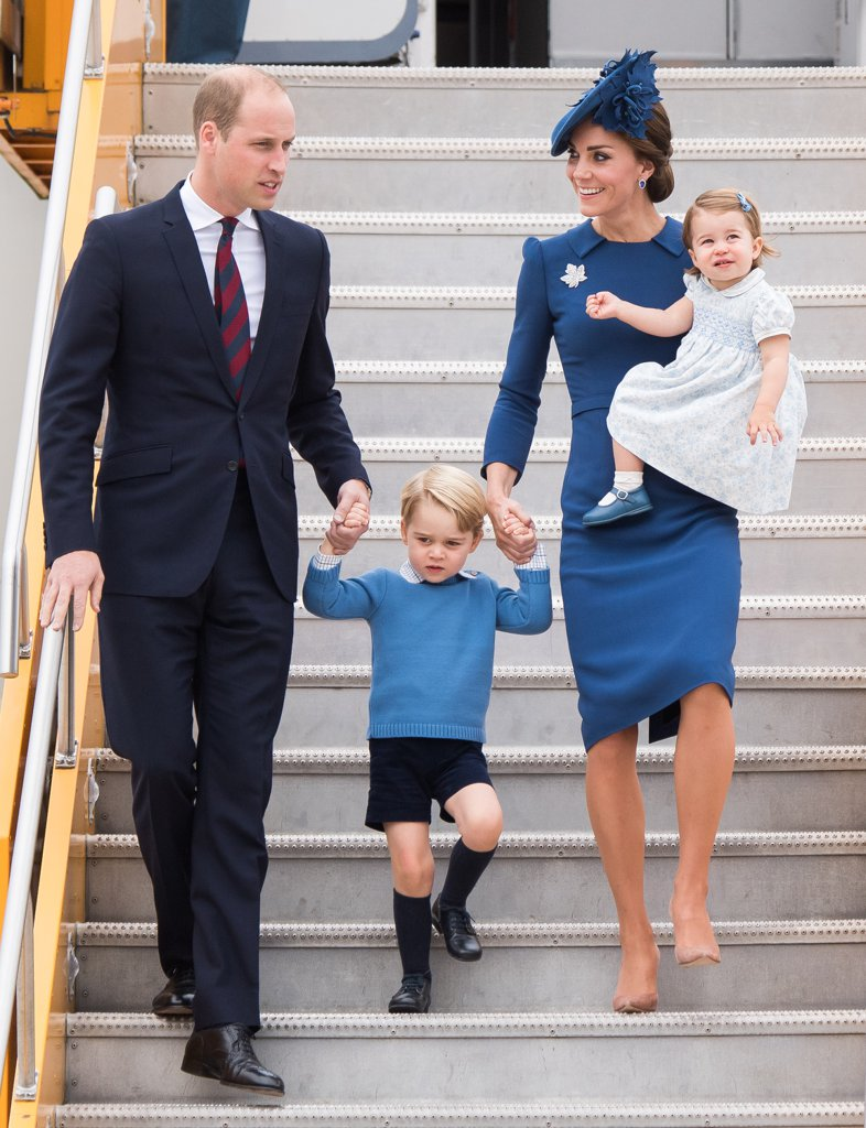 Prince William, Prince George, Princess Charlotte Elizabeth Diana, and Catherine Duchess of Cambridge Photo (C) GETTY IMAGES