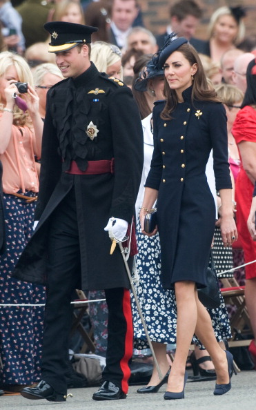 Prince William, Duke of Cambridge and Catherine, Duchess of Cambridge attends the Irish Guards Medal Parade at the Victoria Barracks on June 25, 2011 in Windsor, England. The Duchess of Cambridge and Duke of Cambridge are at the barracks to present service medals to members of the Irish Guards.