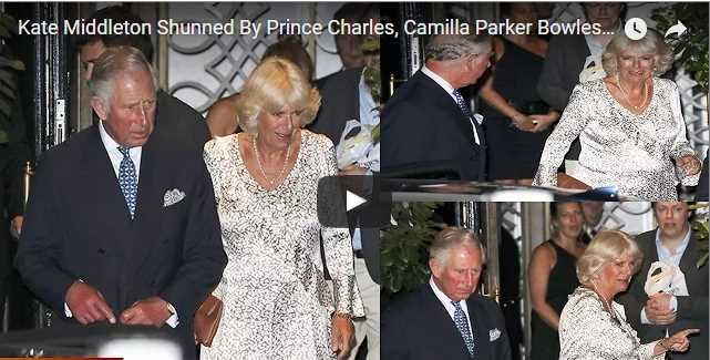 Catherine Duchess of Cambridge Shunned By Prince Charles Camilla Parker Bowles From Fancy London Dinner