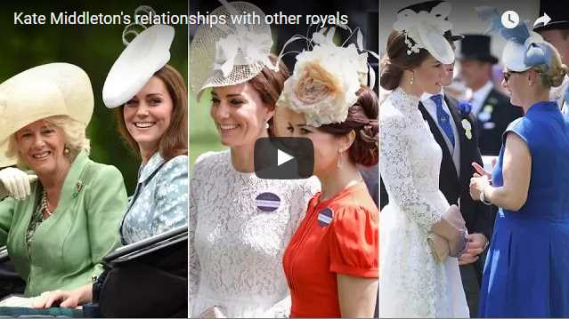 Catherine Duchess of Cambridges relationships with other royals
