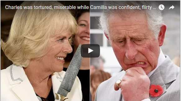 Charles was tortured miserable while Camilla was confident flirty and adored at home