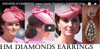 Duchess of Cambridge Wears Queen Elizabeth's Diamond Drop Earrings at Trooping the Colour 2017