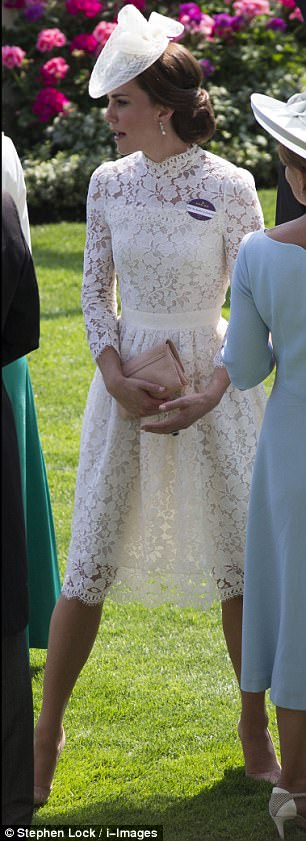 Fast forward 37 years and Kate Middleton set tongues wagging in her own right with her semi-sheer ivory dress