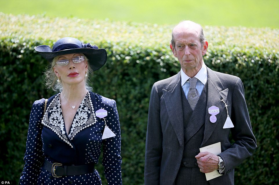 Italian philanthropist Donatella Flick was seen walking alongside the Queen's cousin, the Duke of Kent
