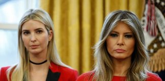 Ivanka Trump and first lady Melania Trump were on hand at the White House