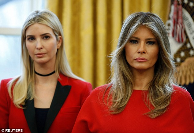 Ivanka Trump and first lady Melania Trump were on hand at the White House Photo (C) REUTERS