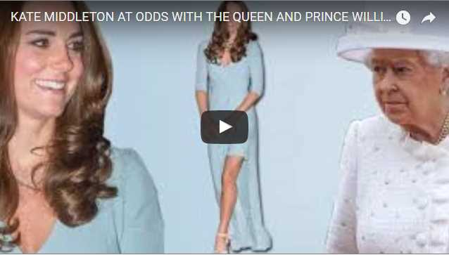 Kate Middleton at Odds With the Queen and Prince William