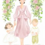 Kate was drawn with her children Prince George and Princess Charlotte Copyright Naseeba Khader