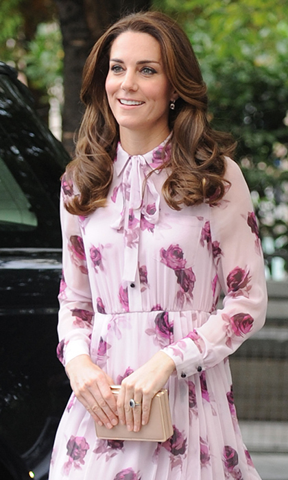 You can emulate Pippa's style by purchasing the lantern poplin flounce dress from Kate Spade New York for £335 Photo (C) GETTY IMAGES
