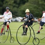 Meanwhile other attendees took part in an unusual take on polo shunning horses in favour of Penny farthings in order to play the sport