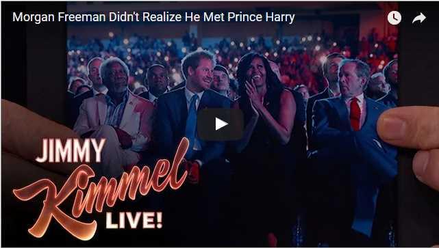 Morgan Freeman Didnt Realize He Met Prince Harry