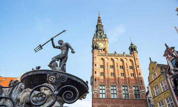 Neptune's Fountain is a must-see attraction in Gdansk. Photo (C) GETTY IMAGES