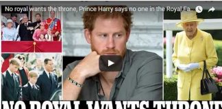 No royal wants the throne Prince Harry says no one in the Royal Family wants to be king or queen