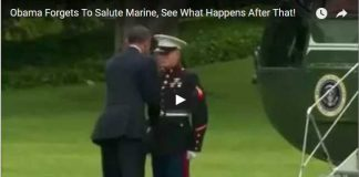 Obama Forgets To Salute Marine, See What Happens After That