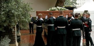 Pallbearers from the Second Battalion Princess Patricias Canadian Light Infantry CREDIT AP PHOTO MATT DUNHAM