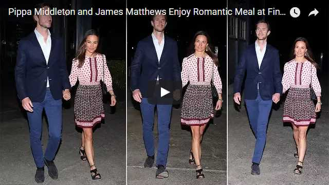 Pippa Middleton and James Matthews Enjoy Romantic Meal at Fine Dining Restaurant