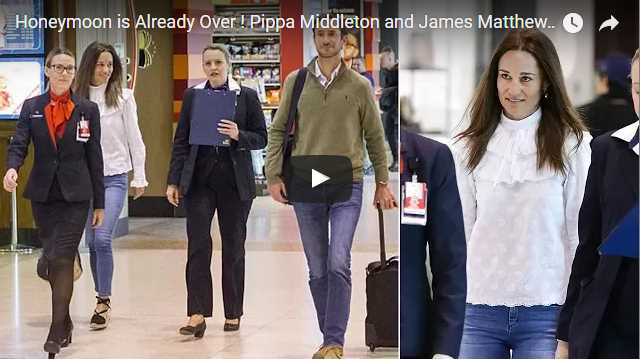 Pippa Middleton and James Matthews at Sydney Airport to Leave Sydney
