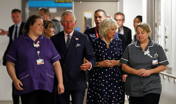 The Royals also visited the Met command offices Photo C AFP