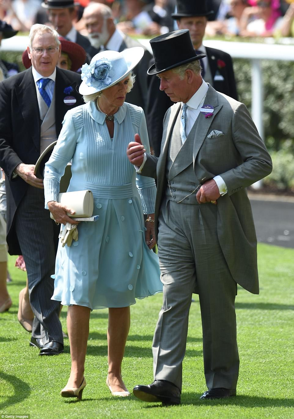 Prince Charles met up with his wife to attend Ascot after accompanying his mother to the State Opening of Parliament