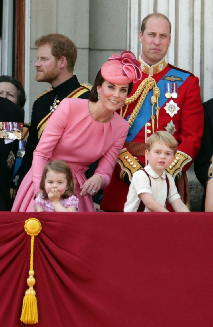 Prince George and Princess Charlotte were spotted on the balcony of Buckingham Palace to celebrate the Queen's 91st birthday [Photo PA]