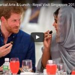 Prince Harry Martial Arts Lunch Royal Visit Singapore 2017 Part 2 Includes Video Footage