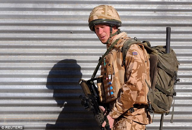 Prince Harry admitted feeling most at home during his years in the Army. He is seen patrolling in a town in southern Afghanistan in January 2008