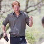 Prince Harry during his visit to Southern African Wildlife College a flagship centre close to Kruger National Park in December 2015