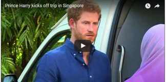 Prince Harry kicks off trip in Singapore
