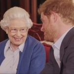 Prince Harry pictured right with the Queen in a video clip to promote the 2016 Invictus Games has admitted that he once 'wanted out' of the Royal Family
