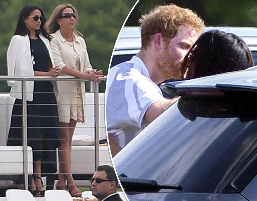 Prince Harry spotted kissing Meghan Markle as engagement rumours mount Photo (C) GETTY IMAGES