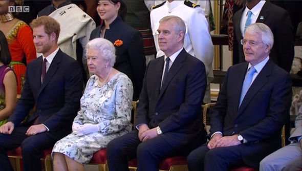 Prince Harry took a photo with the Queen and the winners before interviewing some of them Photo (C) BBC