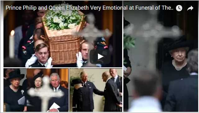 Prince Philip and Queen Elizabeth Very Emotional at Funeral of The Countess Mountbatten of Burma