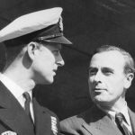 Prince Philip left chats with his uncle Lord Mountbatten of Burma in 1948. Credit AP