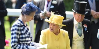 Princess Anne who shares a lifelong horse of horse racing with her mother catches up with her mother ahead of the main event