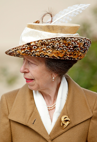 WINDSOR, UNITED KINGDOM - APRIL 16: (EMBARGOED FOR PUBLICATION IN UK NEWSPAPERS UNTIL 48 HOURS AFTER CREATE DATE AND TIME) Princess Anne, The Princess Royal attends the traditional Easter Sunday church service at St George's Chapel, Windsor Castle on April 16, 2017 in Windsor, England. (Photo by Max Mumby/Indigo/Getty Images)