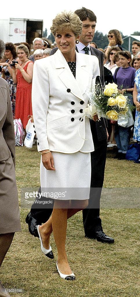 Nottingham,England July 1991 Princess Diana at Federation Cup Tennis Ceremonies.