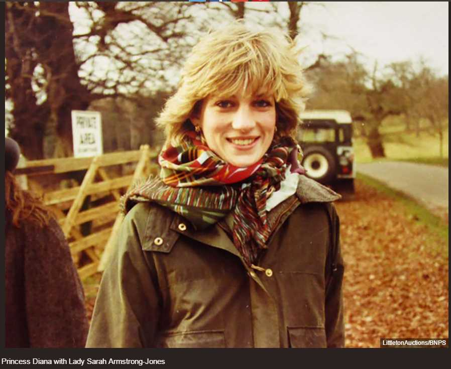 Princess Diana with Lady Sarah Armstrong-Jones Photo (C) BNPS