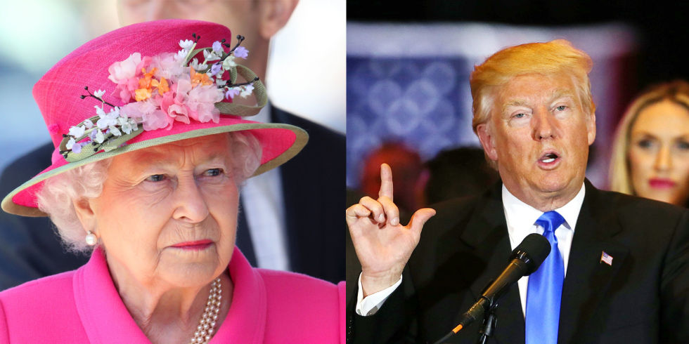 01 Queen Elizabeth and Donald Trump Photo C GETTY IMAGES