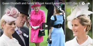 Queen Elizabeth and Family at Royal Ascot Ladies Day 2017 Day 3