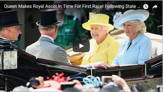 Queen Makes Royal Ascot In Time For First Race