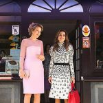 Queen Mathilde of Belgium left and Queen Rania of Jordan right paid a visit to Bruges The Chocolate Line shop in 2016 Photo C BENOIT DOPPAGNE AFP GETTY IMAGES