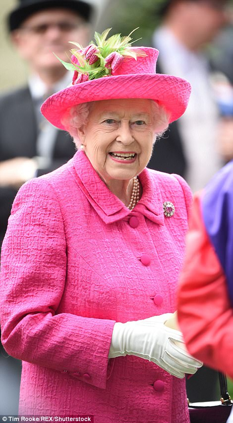 Queen was showing no sings of strain as she enjoyed her favourite event of the year