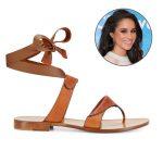 Sarah Flints Grear sandal has seen an increase in sales thanks to Prince Harrys girlfriend. Photo C MEGHAN MARKLE INSTAGRAM