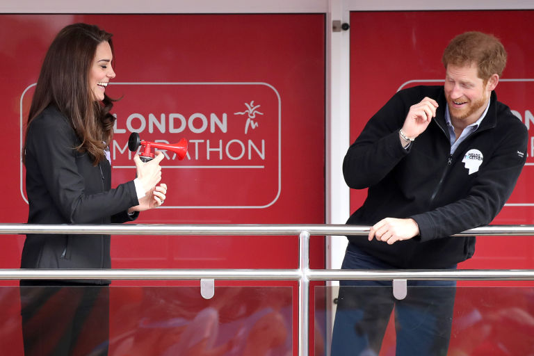 Signaling the start of the Virgin Money London Marathon in 2017. Photo (C) GETTY IMAGES