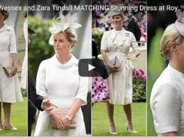 Sophie Wessex and Zara Tindall MATCHING Stunning Dress at Royal Ascot